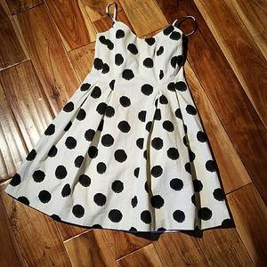 Loft Bsbydoll cut out back dress